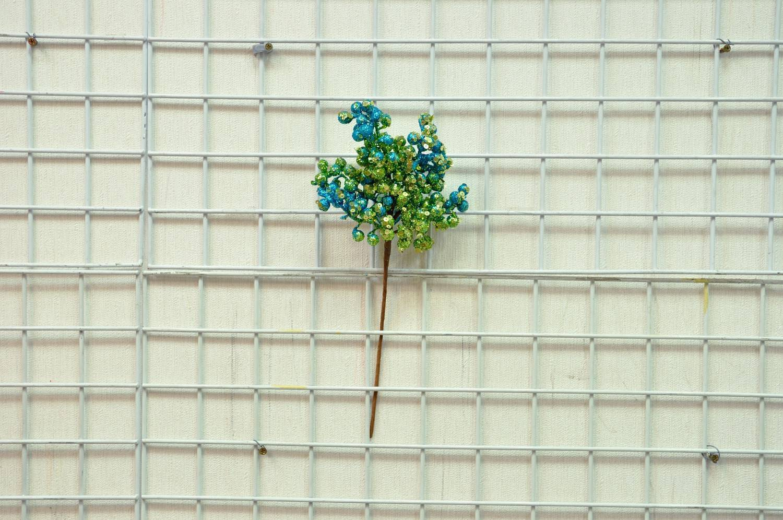 藍綠亮片金蔥小果枝