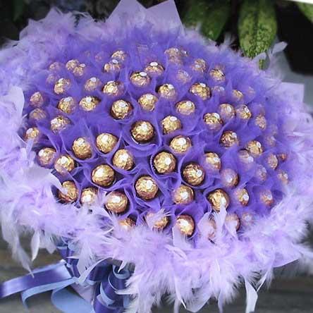 《濃濃情意》99朵金莎花束