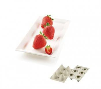 【silikomart】6連草莓模