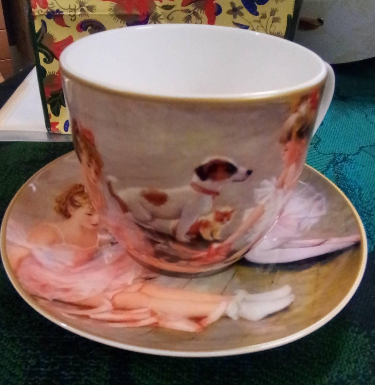克林姆印象派杯碟組