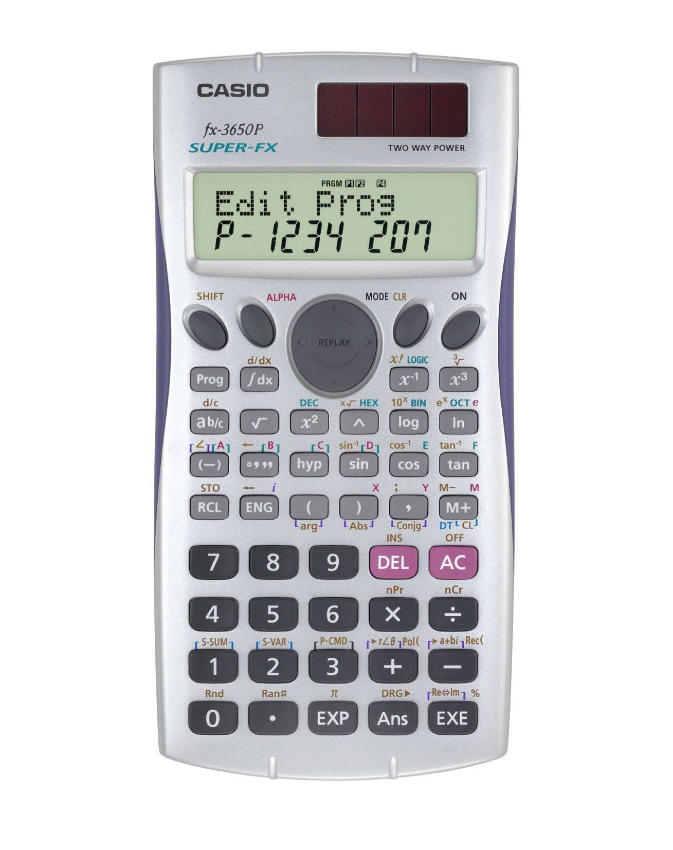 CASIO FX-3650P工程用計算機(10+2位數)