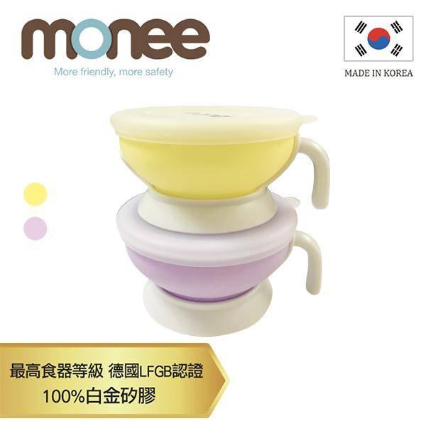 【韓國monee】100%白金矽膠寶寶智慧矽膠碗/2020新色/2色