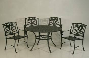 鋁製蘭花120圓桌組