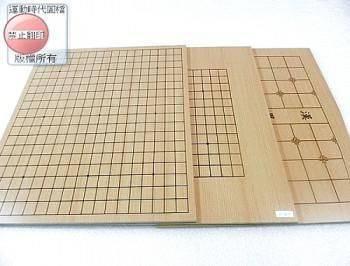初學十九路貼木紋皮薄棋盤
