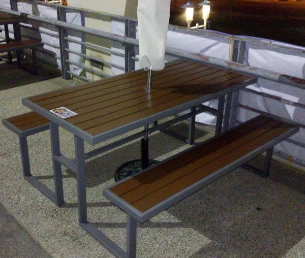 塑木5尺啤酒桌 工業風