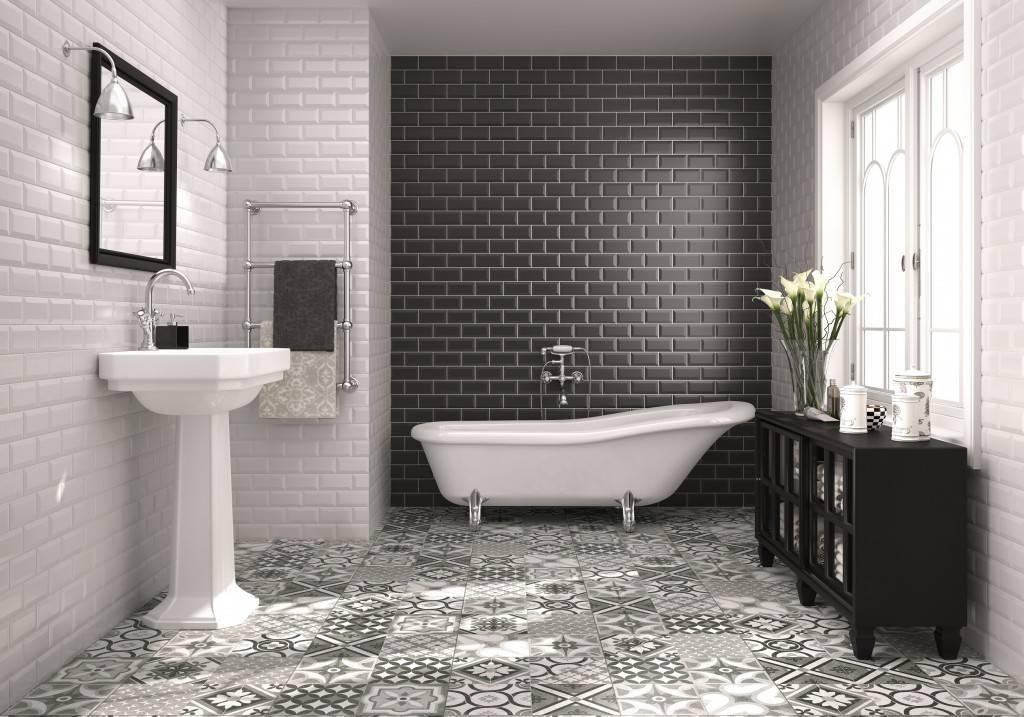 地鐵磚【HGU-201001白+黑】浴室篇