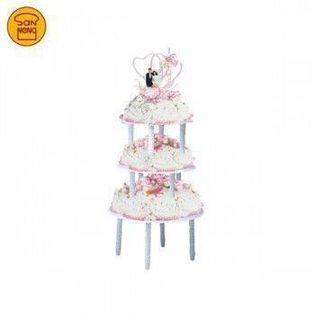 【三能】3層塑膠蛋糕塔