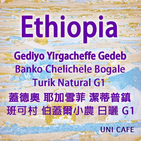 衣索比亞 蓋德奧 耶加雪菲 潔蒂普鎮 班可村 伯蓋爾小農 日曬 G1※曙光計劃 ※品種: 74112&原生種
