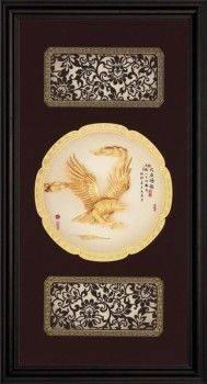 【大展鴻圖】立體金箔畫8款可選(27x50cm)