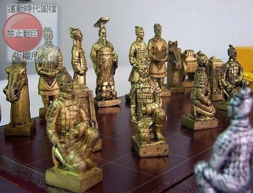 兵馬俑立體中國象棋