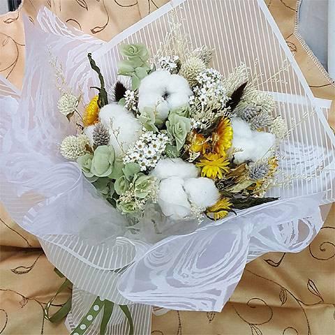 《情話綿綿》粉彩乾燥花束