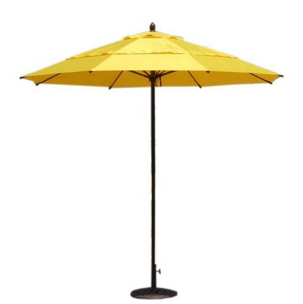 9尺手拉式鋼管玻纖雙層傘