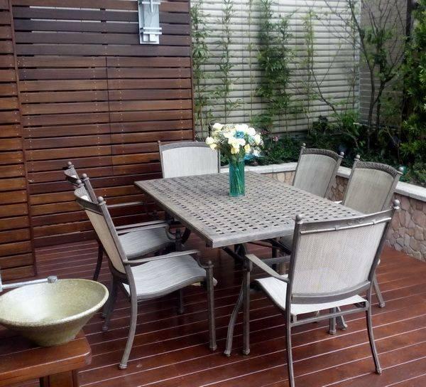 鄉村戶外餐桌椅組
