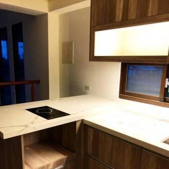 現代簡約直木紋流理台