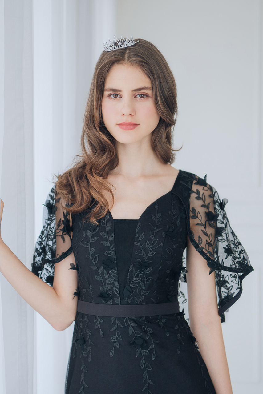 訂製款蕾絲魚尾黑色長禮服【29-2103】---訂製期35天