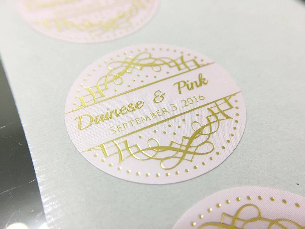 珠光貼紙上霧膜+燙金(單色印刷)