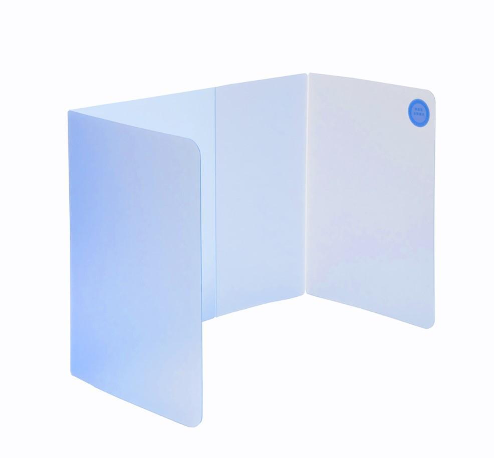 LC-1901 攜帶式用餐防疫隔板(透明藍)