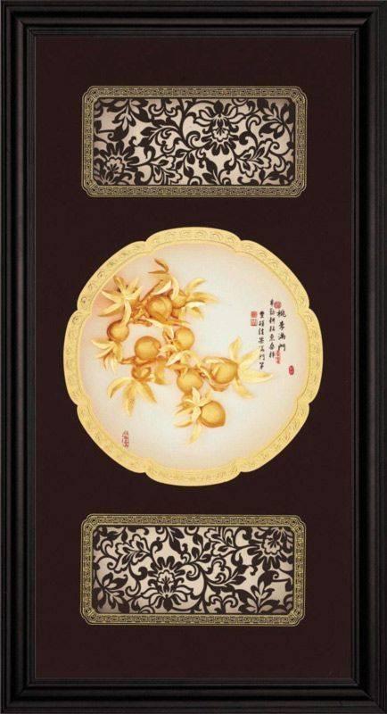 【桃李滿門】立體金箔畫~等8款可選(27x50cm)