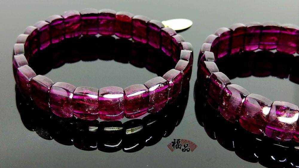 紅色石榴石手環