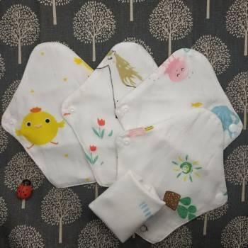 Lohogo 紗布巾衛生護墊7入/環保可洗護墊/布護墊 環保可重覆使用 滿足一週替換需求