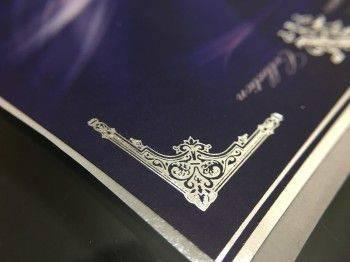 珠光貼紙+上霧膜+燙銀(彩色印刷)