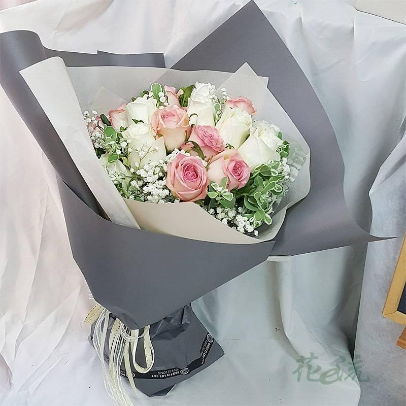 《情投意合》20朵進口大朵玫瑰花束