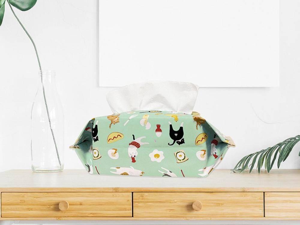 【Greenyoyo】貓小姐Ms.Cat|抽取式衛生紙套_蛋蛋的N種吃法(綠)