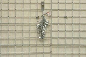 銀羽毛造形吊飾