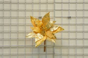 金色聖誕花圓型亮片