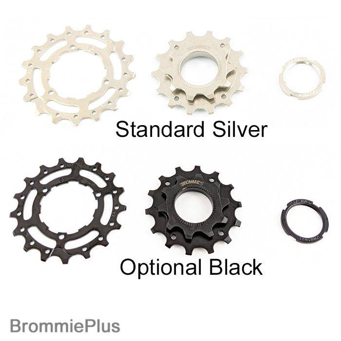 BrommiePlus Derailleur 3 Speed 10T Kit - for Hubsmith rear hubs - Package without free hub