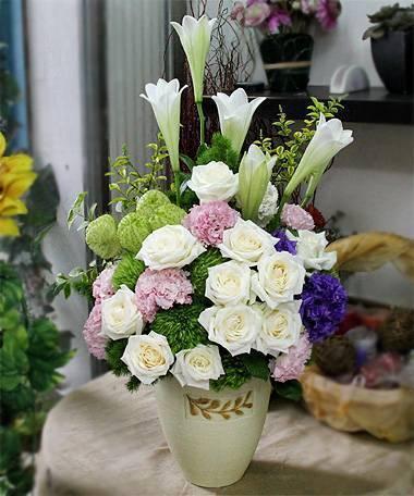 《春韻》精緻桌上盆花