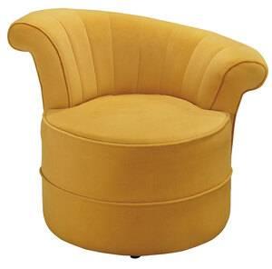 JS-246-9 蘭斯黃色單人造型沙發椅 (不含其他產品)