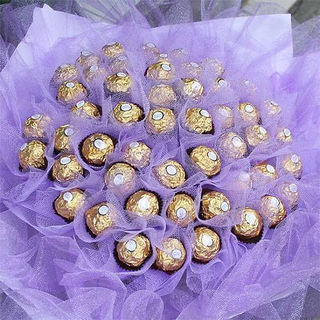 【限時特價】《紫愛浪漫》50朵金莎花束