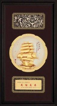 【一帆風順】立體金箔畫~等8款可選(27x50cm)