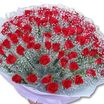 婚禮小物-100朵套袋玫瑰(單價每束46元)