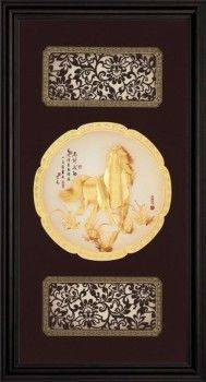 【馬到成功】立體金箔畫~等8款可選(27x50cm)