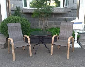 高背椅80雙人桌椅組