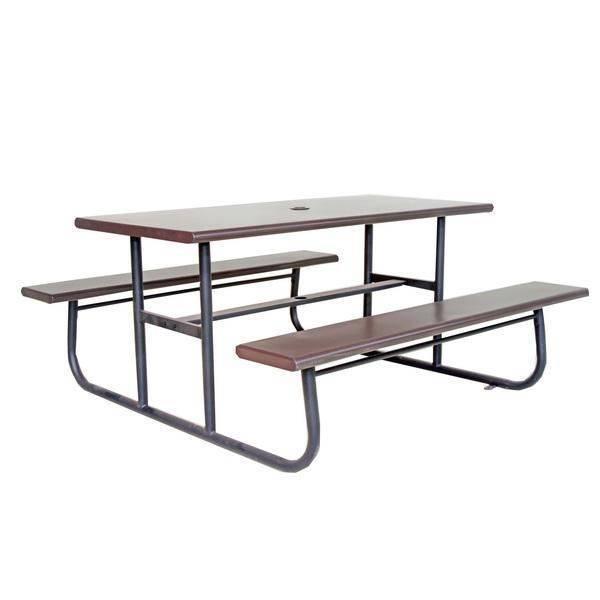 鋁板野餐桌椅組 黑+咖色