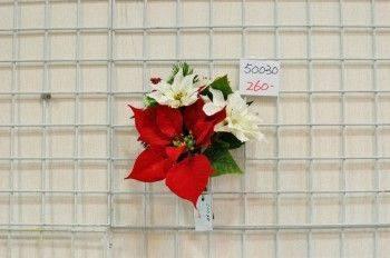 紅白聖誕花束