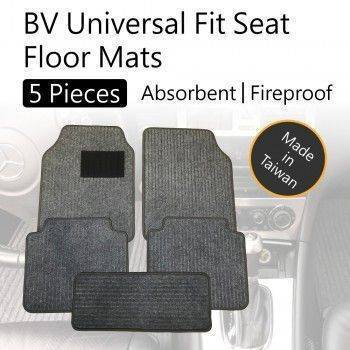 BV Universal Fit 5 Pieces Seat Floor Mats