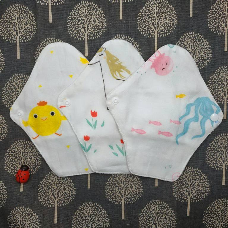 Lohogo 紗布巾衛生護墊/環保可洗護墊/布護墊 環保可重覆使用(單片)