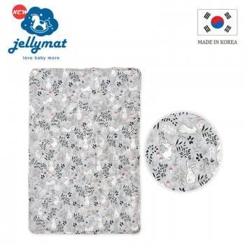 【韓國jellymat】全新微顆粒酷涼珠 100%純棉果凍床墊-牛奶跳跳兔