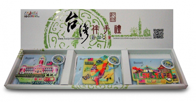 A001-1夜光版瘋台灣旅遊磁鐵禮盒(3入)