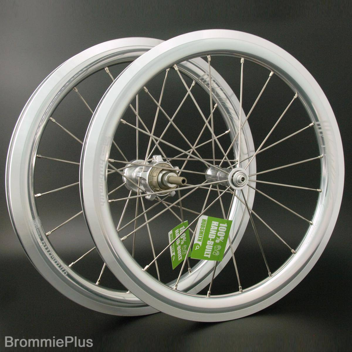 Hubsmith A349 Bumbee 3 Speed wheelset for Brompton - Silver