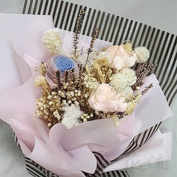 《粉紅少女》亮彩乾燥花束