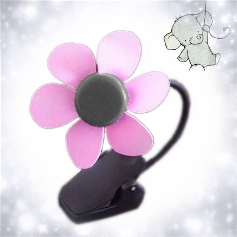 夏季花朵USB夾式風扇/迷你小風扇/彎曲迷你扇/軟葉風扇/蛇管風扇/涼扇 電池USB充電兩用扇 Lohogo樂活趣