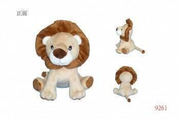 9261六福村獅子坐姿玩偶