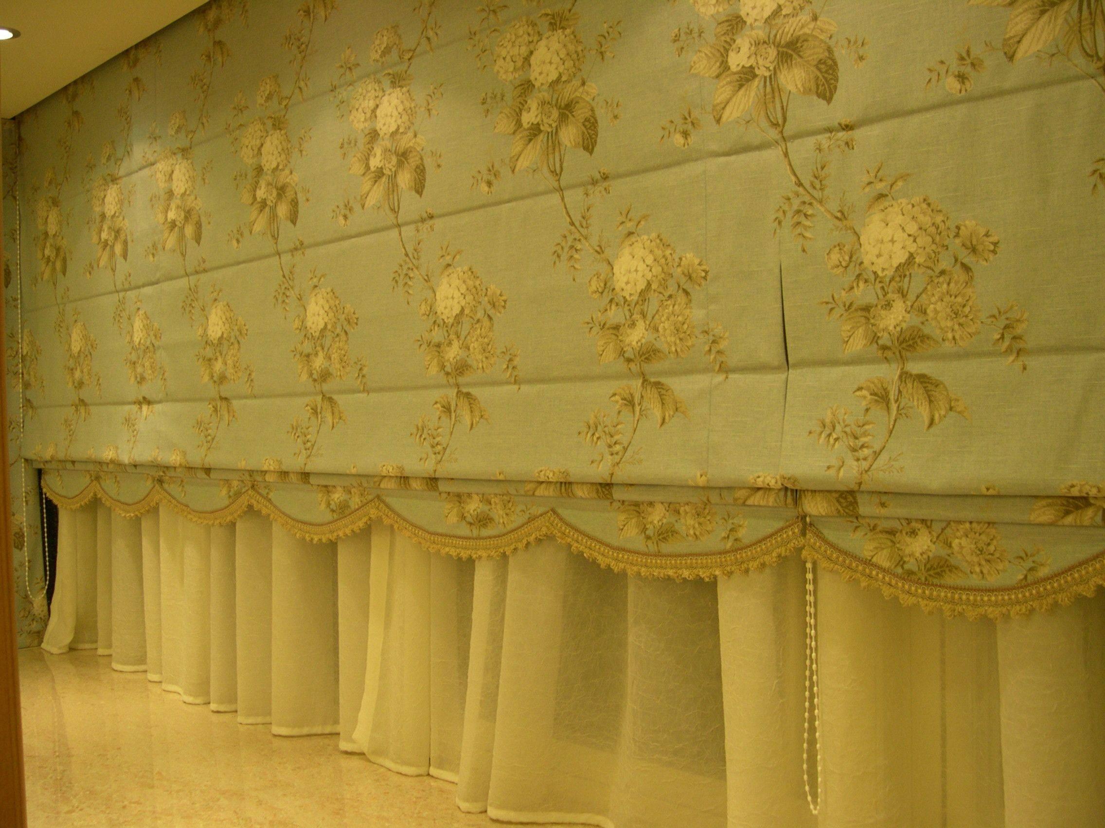 造型窗簾-羅馬簾三