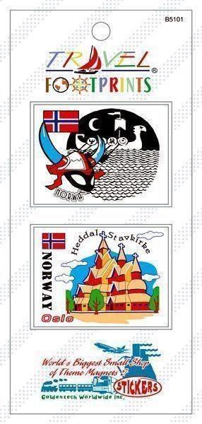 B5101 挪威 奧斯陸旅遊貼紙