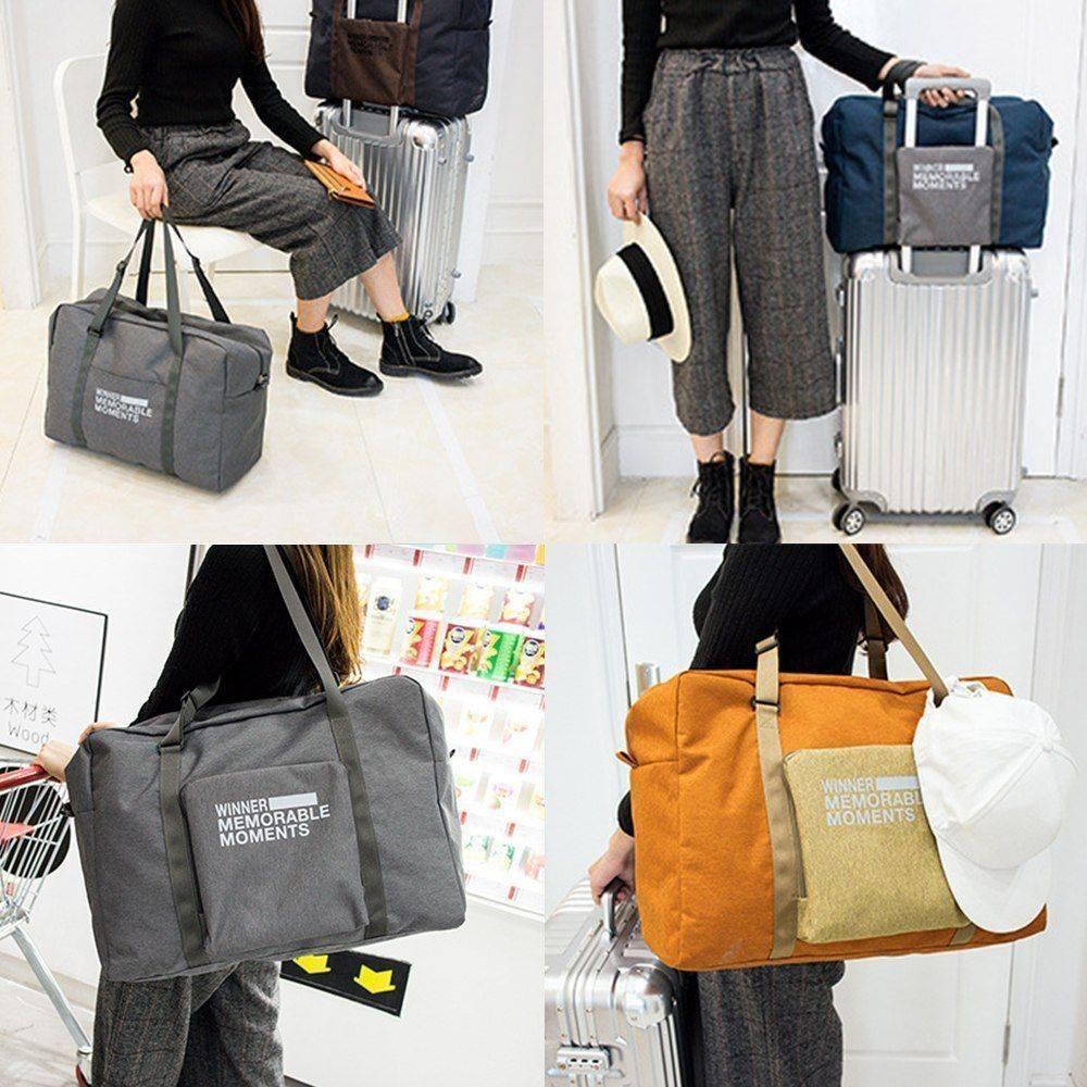 【E-gift】旅行收納包尼龍加厚大容量行李包(四色選擇)